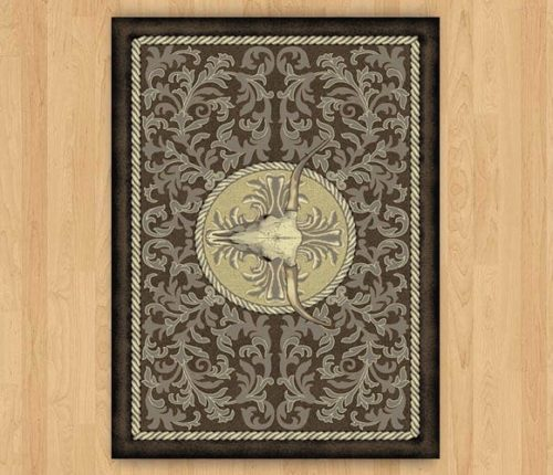 scrimshaw ranch brown rug