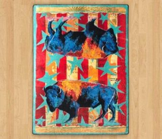 Ruiz Buffalo Stars and Stripes rug
