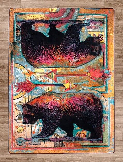 ruiz walking bear area rug
