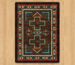 sawtooth mojave sunset rug