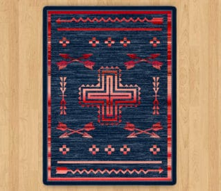 Shoot Me Straight Power Red rug